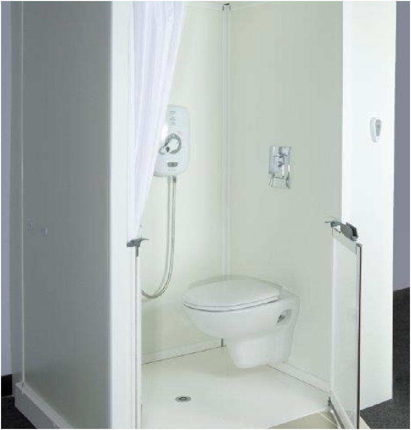 All In One Disabled Shower Cubicle Incorporating A Toilet