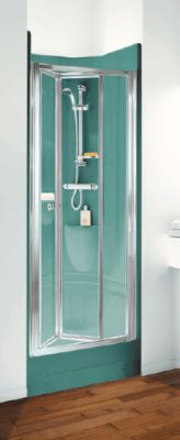 Marble look finish shower pod