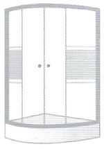 Pentagon Shaped Shower By Coram