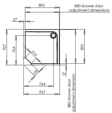 envirotec corner shower pod
