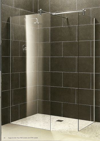 Aqua screen Light  straight. Wet room shower screens