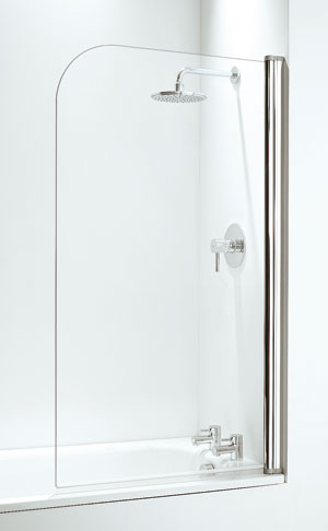 Hinged glass bath screens