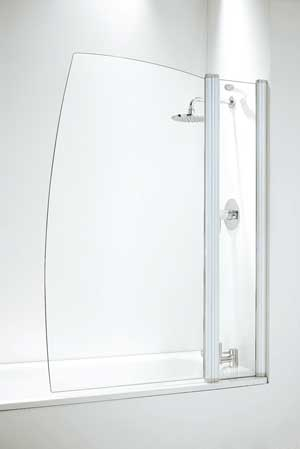 Coram Bath Screens - hinged and fixed models