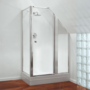 Shower enclosures made for awkward shapes and spaces