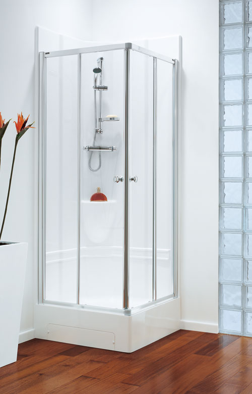 Coram 800mm Corner Leak Free Shower Pod 800mm X 800mm