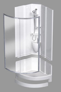 Coram shower pods are self contained shower units