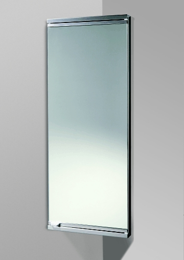 steel bathroom cabinet is a corner cabinet with mirrored door and