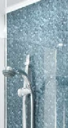 Waterproof wall panels for shower areas