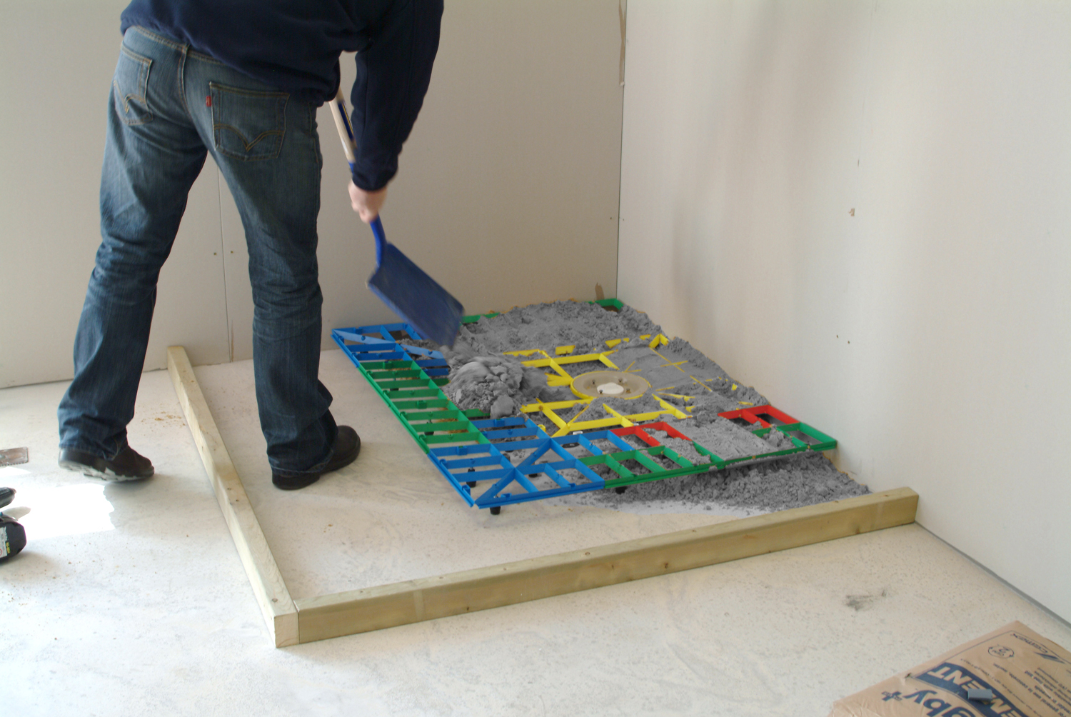 Aqua grade wet room solid floor former for How to fit a wet room floor