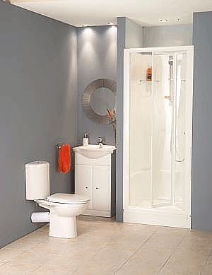 Kinelux One Piece Alcove Shower Pod Leak Free Shower