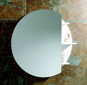 monaco round bathroom cabinet from hib this original circular cabinet