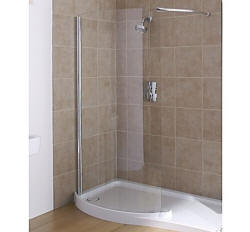 Alcove walk in shower
