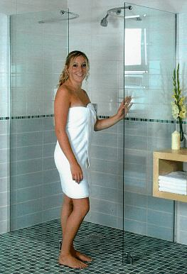 Wet room showers and components to aid construction