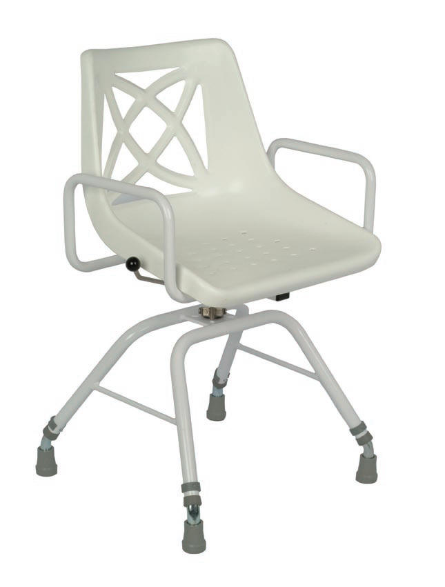Free standing swivel shower chair