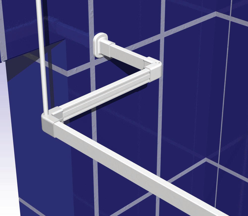Shower Curtain Rail Support Rod