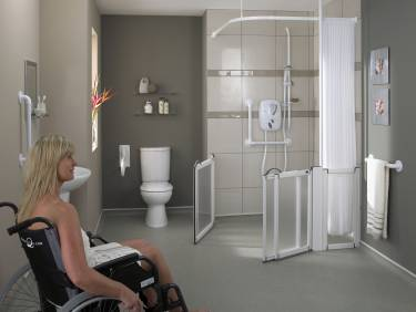 We are wet rooms wet room showers a guide to building - Disabled shower room ...