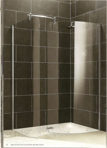 Comfortable Curved Glass Shower Screen Contemporary