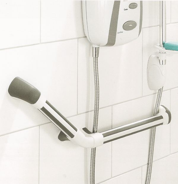 Maxi Grip high visibility slip resistant bathroom grab rails