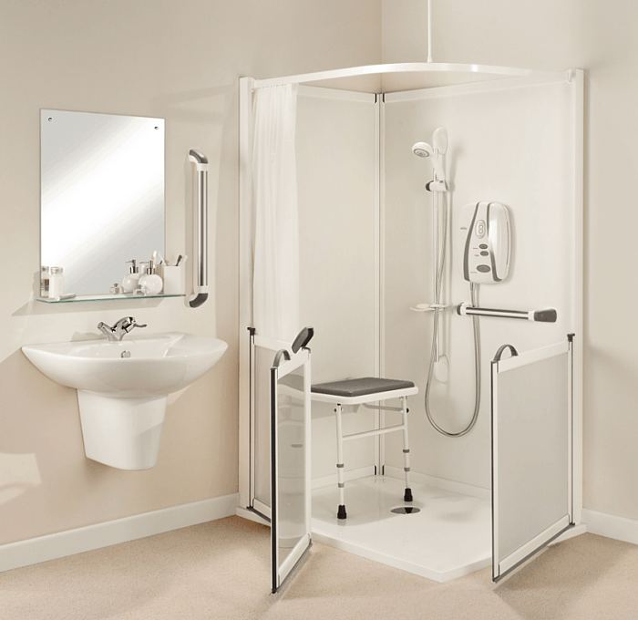cubicle.htm impress disabled half height corner shower cubicle ideal  impress disabled half height corner shower cubicle ideal