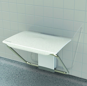 Slimfold shower bench - folding shower seat in White finish