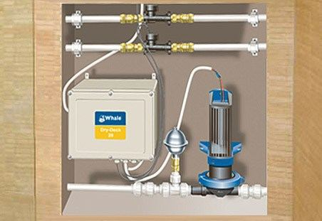 Dry Dec 20 wet room floor waste water pump kit
