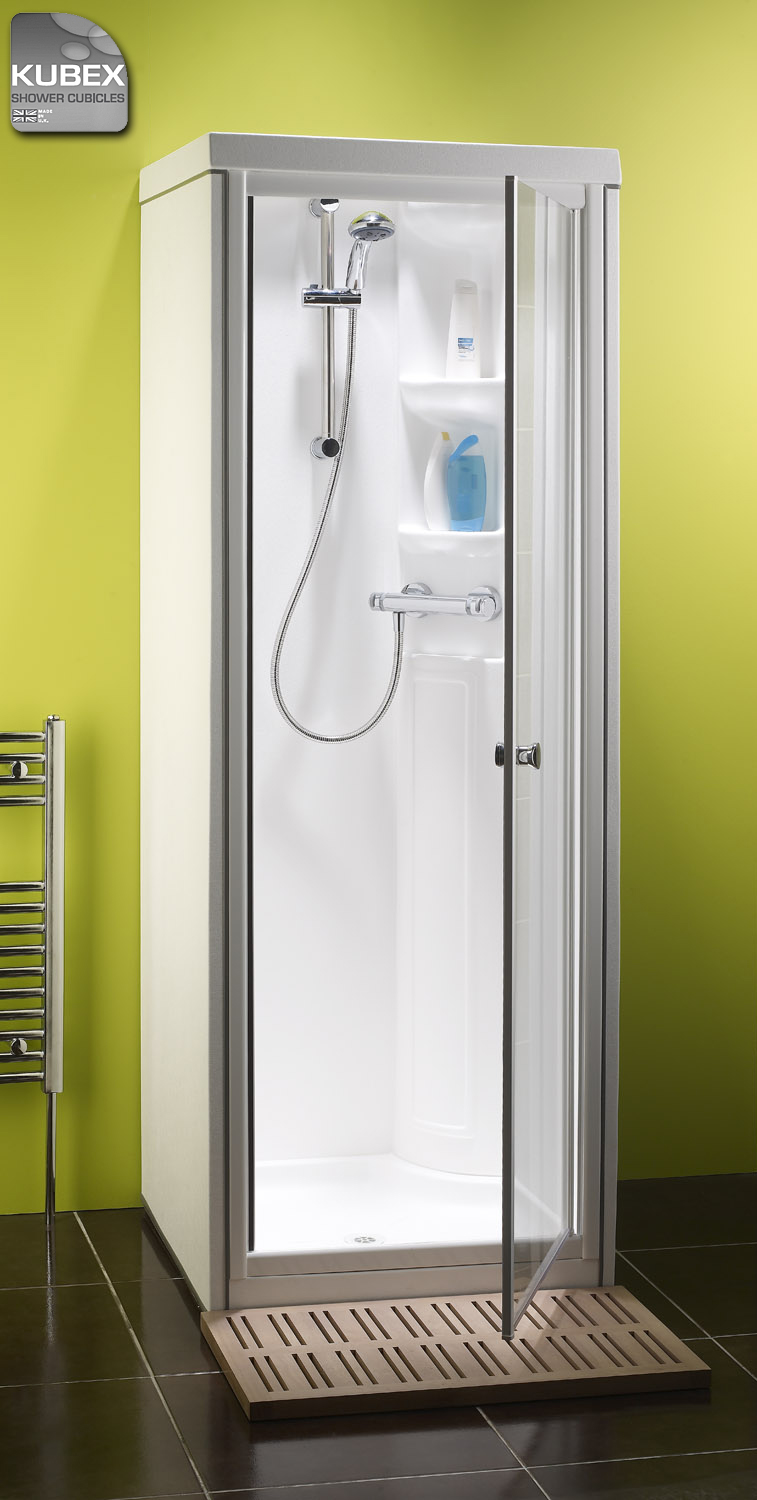 Kubex compact shower pod the small shower cubicle guaranteed leak free - Shower stall small space pict ...
