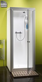 Kubex Kingston pivot door self contained shower cubicle