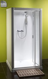Kubex Profile 900 shower pod with bi fold door