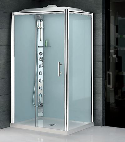 Novellini Glax 2 Offset Corner Hydro Massage Shower Pod