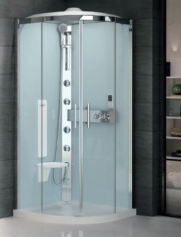 Quadrant Hydro Massage Shower Cubicle Silicone Free