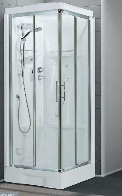 Novellini New Holiday Corner entry shower pod