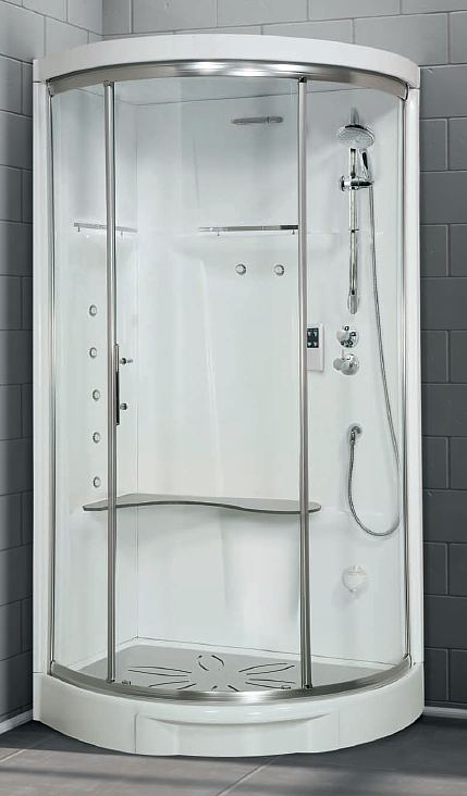 Novellini New Holiday offset quadrant shower pod