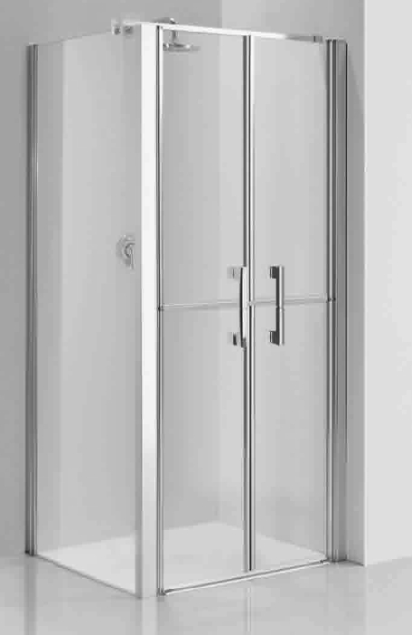 Corner Shower Enclosures With Full Height Glass And Stable Door Access