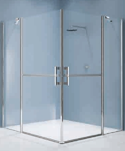 Charmant Extra Large Glass Shower Enclosure With Stable Doors And Large Corner Access