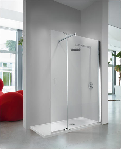 Walk In Shower With Flipper Panel.Novellini Kuadra H2 Walk In Shower Screen With Integrated