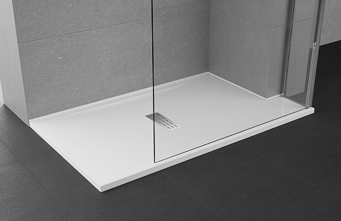 novellini custom shower tray fitted to awkward corner