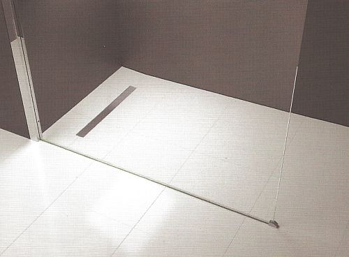 Novellini duo wet room shower floor deck for Wet room shower tray for vinyl