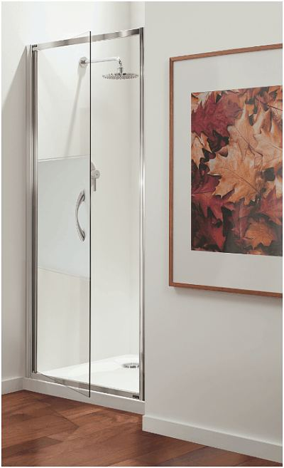 Coram Premier Pivot Shower Door With 8mm Glass
